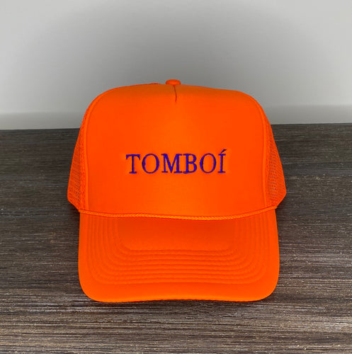 """TOMBOÍ"" Trucker Cap (Neon Orange)"