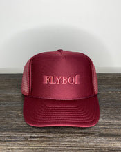 "Load image into Gallery viewer, ""FLYBOÍ"" Trucker Cap (Burgundy)"