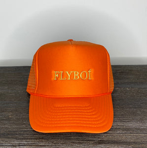 """FLYBOÍ"" Trucker Cap (Dark Orange)"