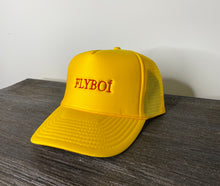"Load image into Gallery viewer, ""FLYBOÍ"" Trucker Cap (Yellow)"