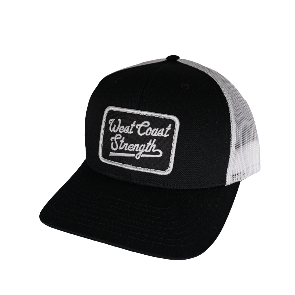 WCS Snapback Pre-Curved Bill Trucker hat - Black/White