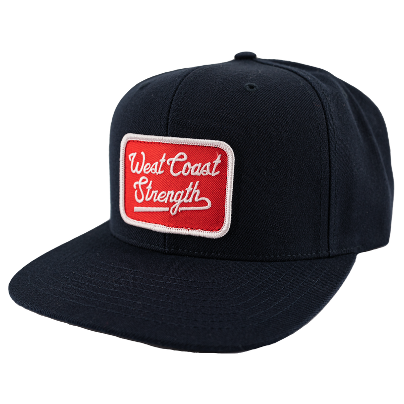 West Coast Strength Snapback Full Wool hat - Navy/Red