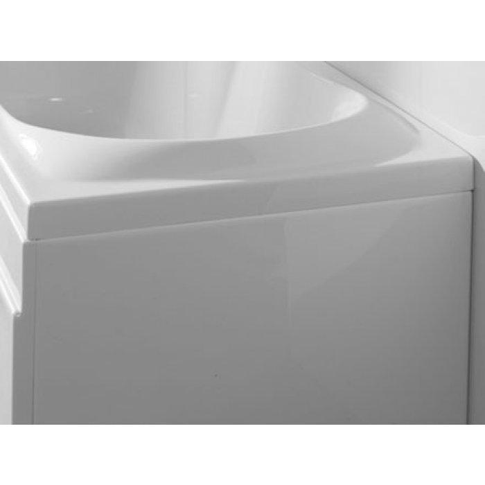 Carron Prado/Delta Offset Shower Bath End Panel - Acrylic - White ...
