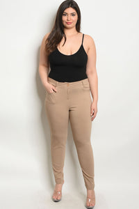 Khaki Plus Size Pants