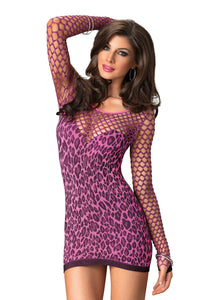 Seamless Leopard Mini Dress