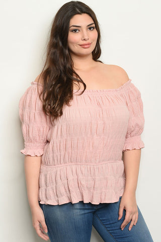 Blush Plus Size Top