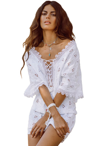 Broderie Anglaise Beach Holiday Playsuit