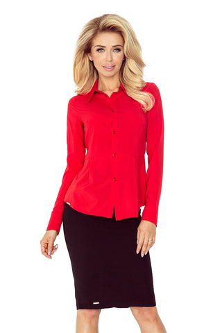 Morimia Red blouse - buttons MM 016-1
