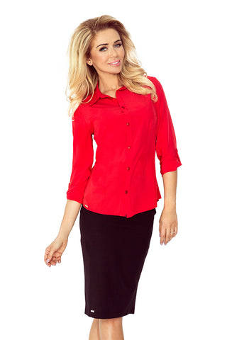 Morimia Red blouse - buttons MM 017-1