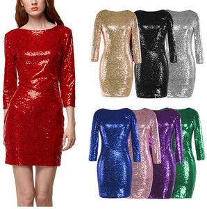 "Pailletten Cocktail Kleid ""Just  Shine"" in 8 Farben"