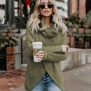 Long Sleeve Turtleneck Sweater Solid Pullover