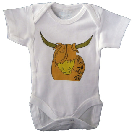 Highland cow baby vest