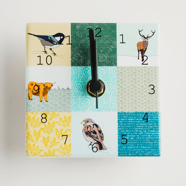 Patchwork Mix - Mini Clocks