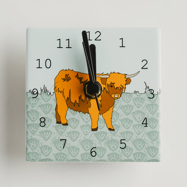Scottish Animal - Mini Clocks