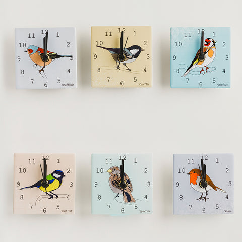 Garden Birds - Mini Clocks