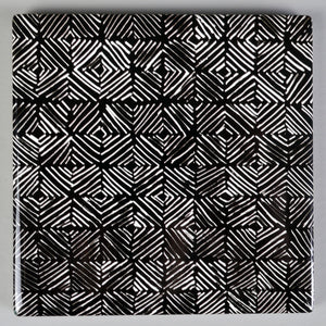 B&W Pattern Ceramic Coasters
