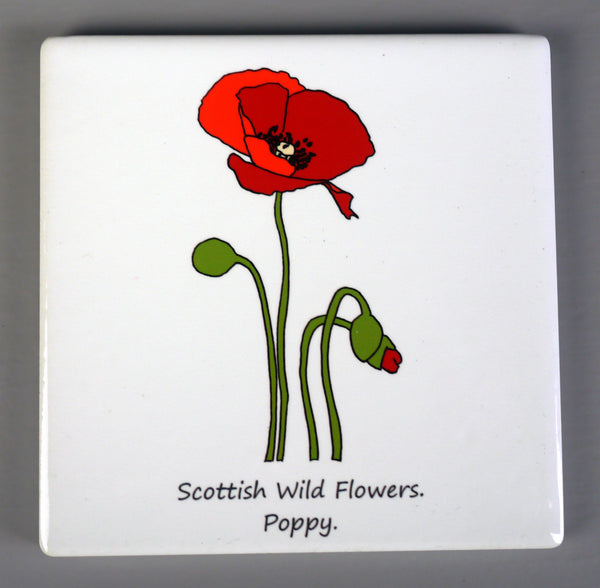 Scottish Wild Flowers Ceramic Coasters