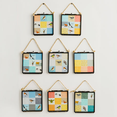 Patchwork Mix - Giclee Print in Rope Frame