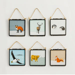 Scottish Animals - Giclee Print in Rope Frame