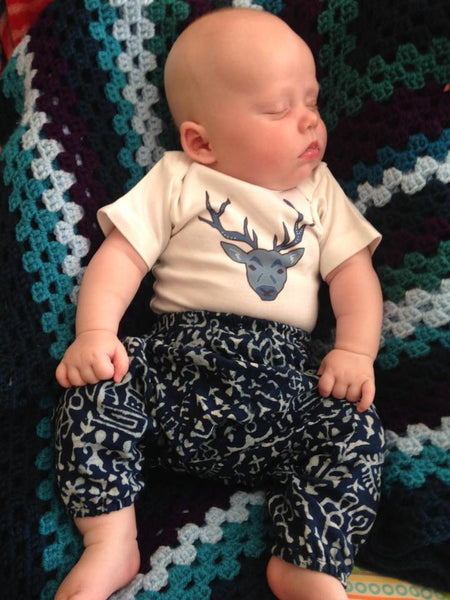 Blue Stag baby vest