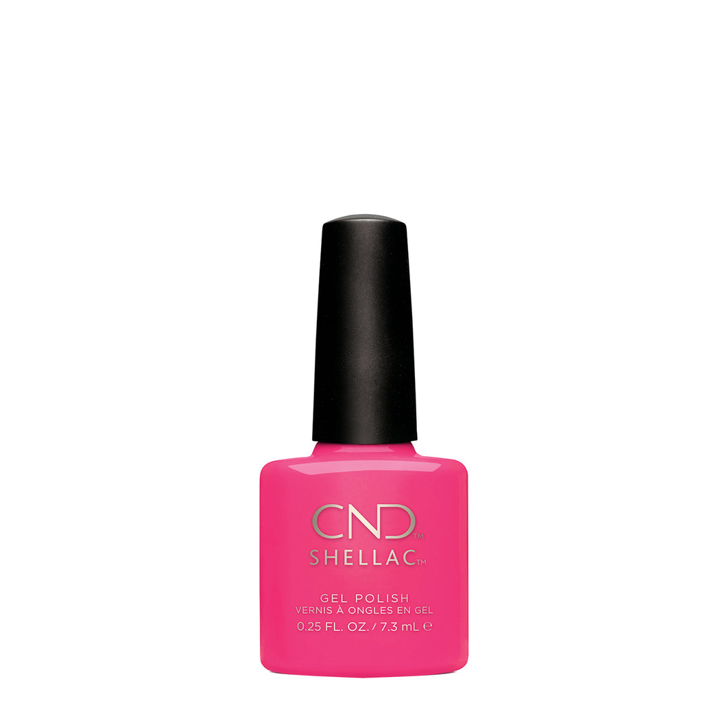 cnd shellac hot pop pink beauty art mexico