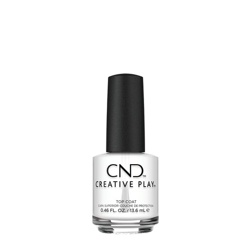 cnd creative play top coat beauty art mexico