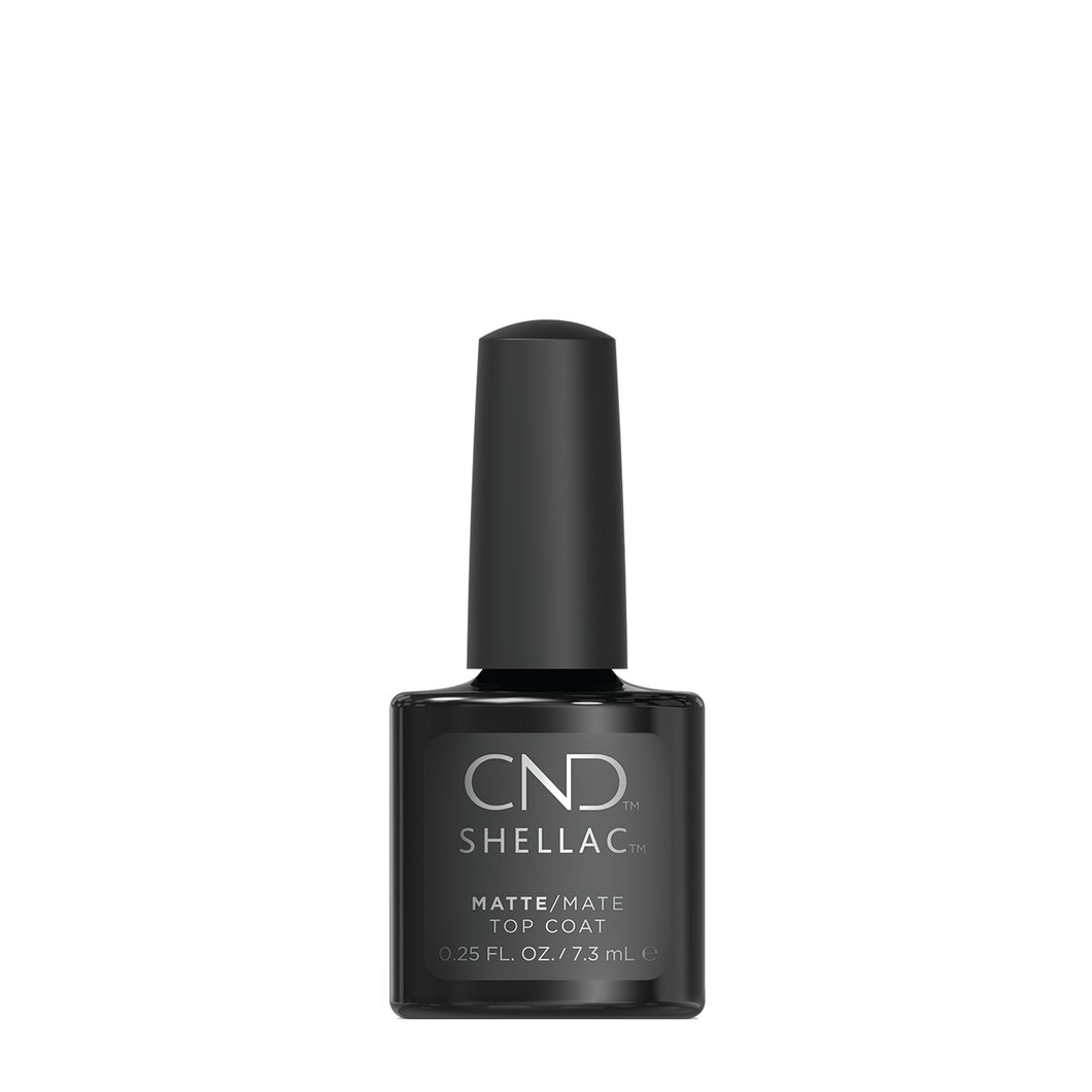 cnd shellac matte top coat beauty art mexico