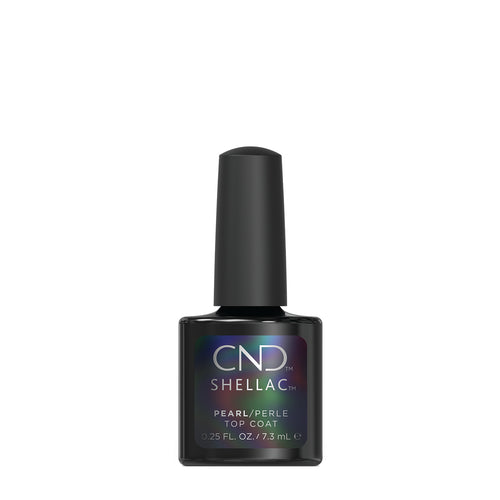 cnd shellac pearl top coat beauty art mexico