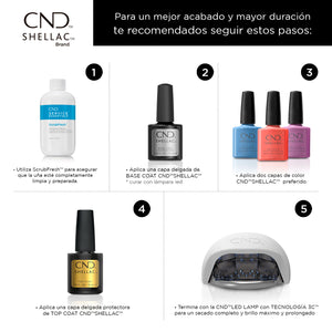 cnd shellac xpress5 top coat beauty art mexico