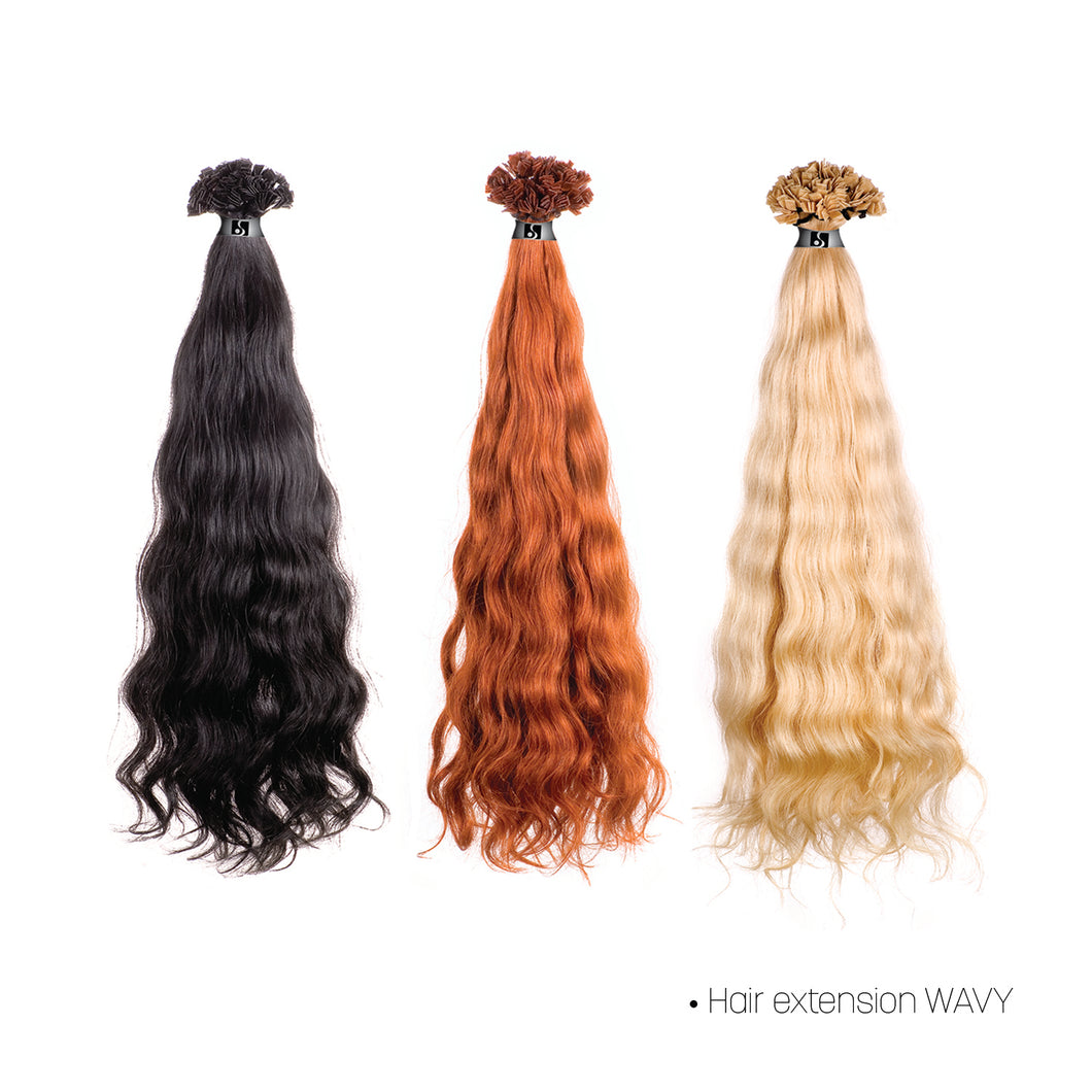 KERATING SYSTEM HAIR EXTENSION WAVY 8002M