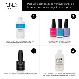 cnd vinylux studio white beauty art mexico