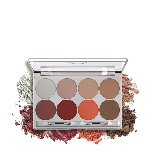 kryolan glamour glow paleta 8 colores indulgence beauty art mexico