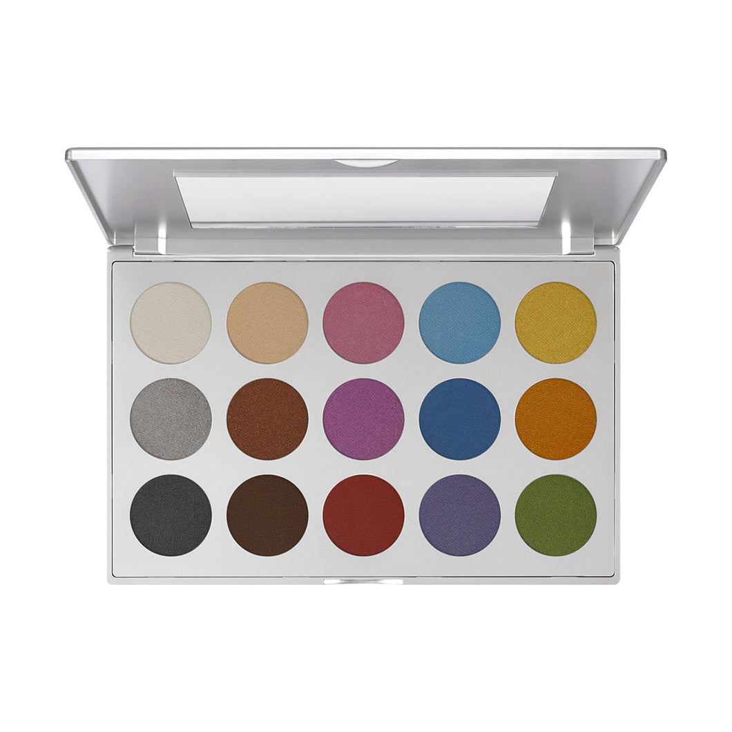 kryolan paleta viva brilliant 15 color beauty art mexico