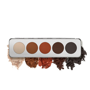 kryolan eye shadow palette 5 shading matt beauty art mexico