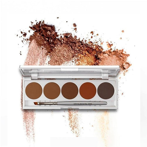 kryolan eyebrown palette 5 color ceja beauty art mexico
