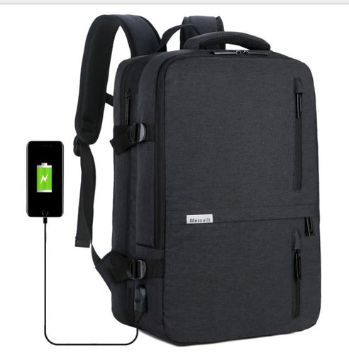 Multi-function anti-theft large capacity Laptop backpack Backpack Black
