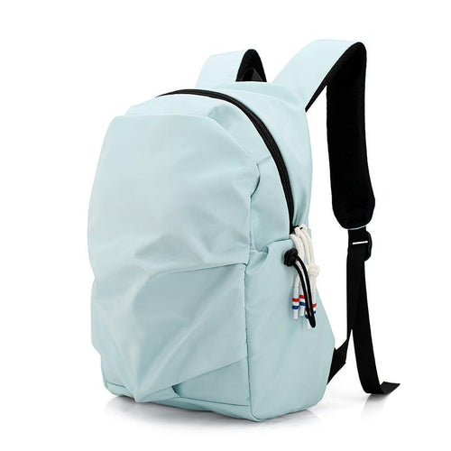 Nylon cloth waterproof Laptop backpack Backpack Light cyan