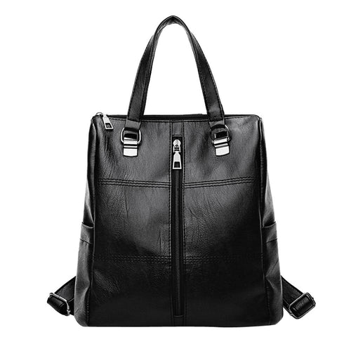 Women Casual Small backpack Backpack Black
