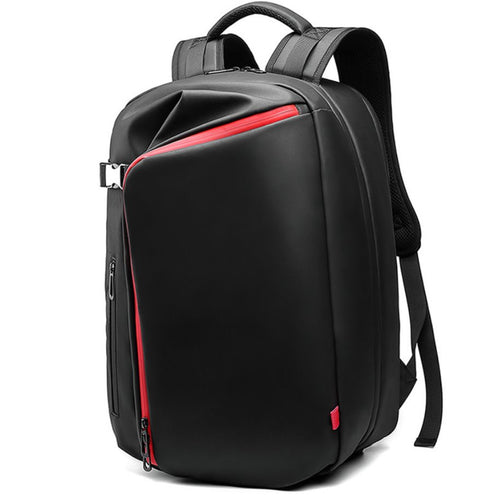 Oxford cloth Men Laptop backpack Backpack Black