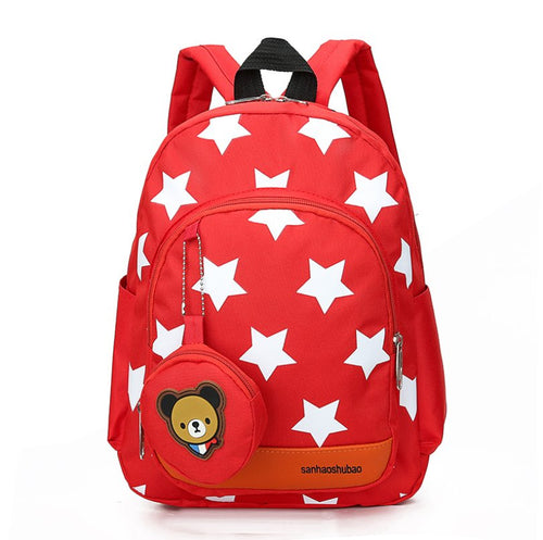 Star cartoon pattern Baby backpack Backpack Gules
