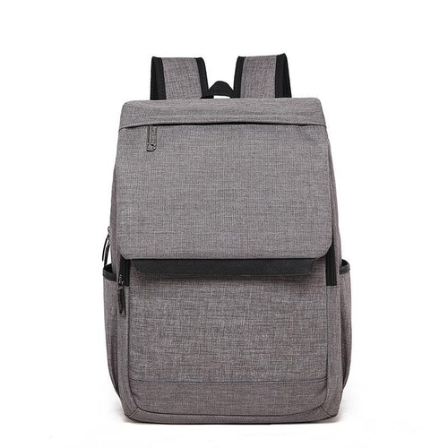 Canvas men's business Casual backpack Backpack Light grey