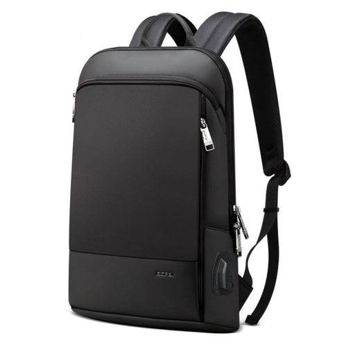 Men's casual slim Laptop backpack Backpack Black