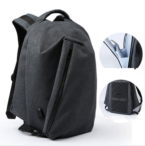 Men's Multifunctional Backpack Outdoor Rucksack Backpack Cool Black
