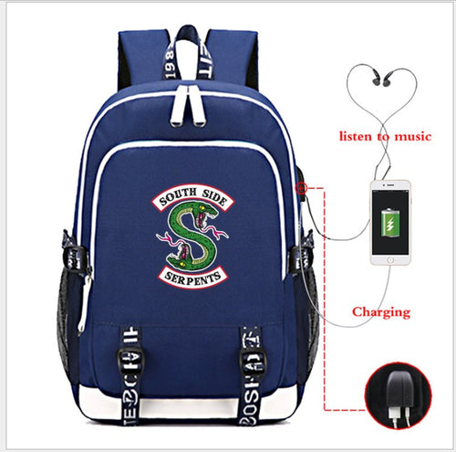 Southside Serpents Laptop Backpack Backpack Blue