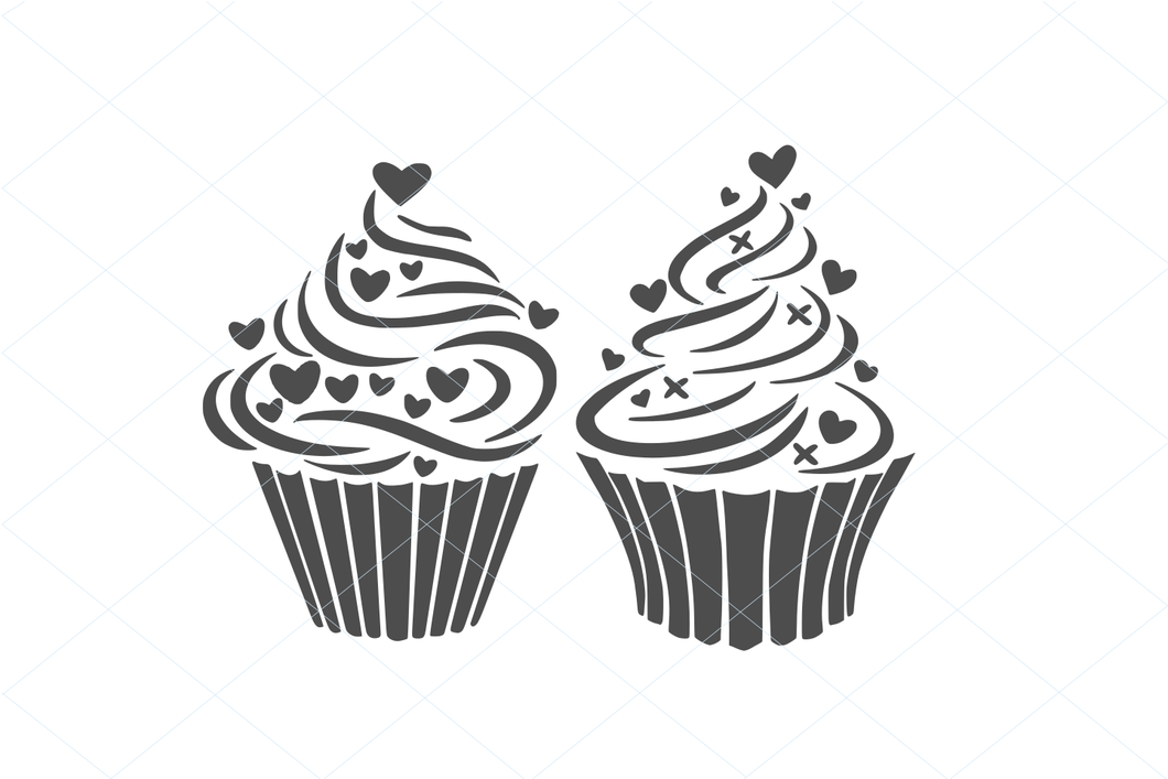 FREE - Cupcake SVG, cupcake vector, cupcake cut file, food svg, sweet svg, dessert svg graphic 1