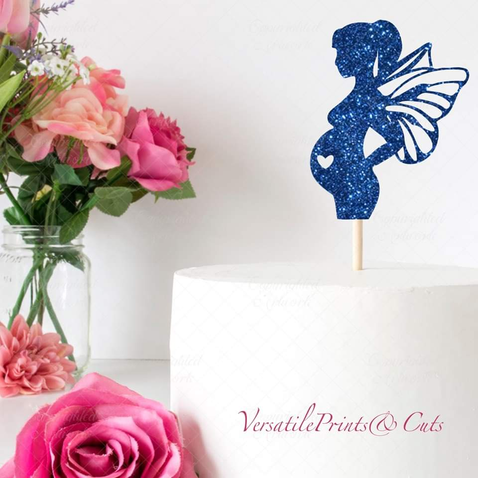 Pregnant Fairy Cake Topper SVG