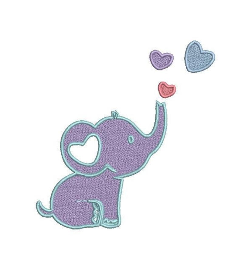 Baby Elephant - Embroidery Design File
