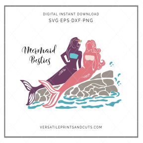 Mermaid Besties - SVG