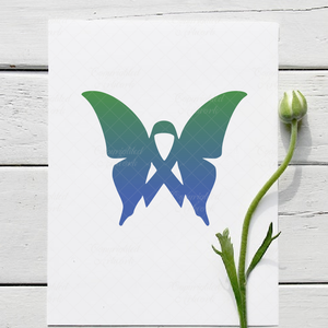 Butterfly ribbon - SVG