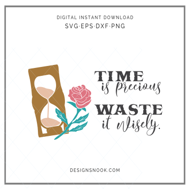 Time is precious, waste it wisely - SVG